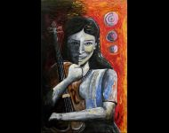 Ragazza con violino / Girl with violin