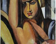 Omaggio a Lempicka - Donna con caschetto biondo / Homage to Lempicka - Woman with blond hair bangs